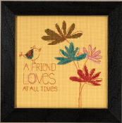 Mill Hill Amylee Weeks beaded counted cross stitch kit - A Friend Loves