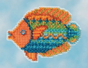 Mill Hill Spring Bouquet collection Fancy Fish MH18-1613 Ornament counted cross stitch kit with treasure