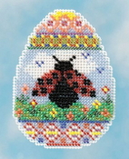 Mill Hill Spring Bouquet Collection Ladybug Egg Easter beaded counted cross stitch ornament kit