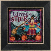 Mill Hill Autumn Series I Drive a Stick Halloween beaded counted cross stitch kit