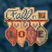 Mill Hill Autumn Harvest collection Fall in Love counted cross stitch ornament kit