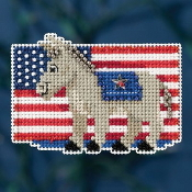 Mill Hill Autumn Harvest collection Patriotic Blue counted cross stitch ornament kit