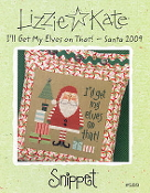 Lizzie Kate Snippet Ill Get My Elves On That Santa Christmas Counted cross stitch pattern, chart with embellishments