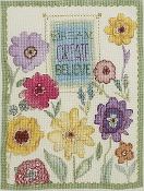 Bucilla Counted cross stitch picture kit - Dream Create Believe
