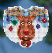 Mill Hill Winter Holiday collection Reindeer Games MH18-1631 Christmas Ornament counted cross stitch kit