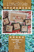 Lizzie Kate Tiny Tidings XXI Christmas counted cross stitch chart with embellishments