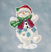 Jim Shore by Mill Hill - Snowman Dancing JS20-1613 Christmas Ornament beaded counted cross stitch kit