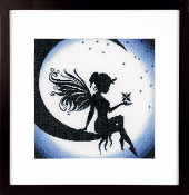 Lanarte, Fairy on the Moon counted cross stitch picture kit
