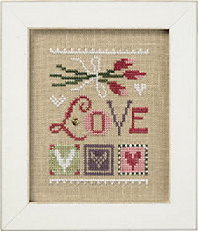 Lizzie Kate Love Celebrate with charm Series Counted cross stitch pattern chart