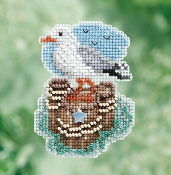 Mill Hill Spring Bouquet collection Seagull counted cross stitch ornament kit