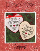 Lizzie Kate Snippet 1st Christmas counted cross stitch pattern
