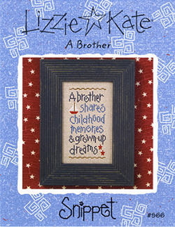 Lizzie Kate Snippet A Brother counted cross stitch pattern