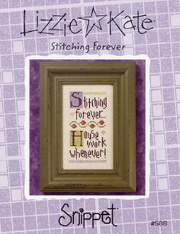 Lizzie Kate Snippet Stitching Forever counted cross stitch pattern