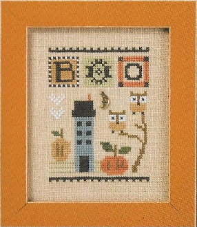 Lizzie Kate BOO Celebrate with charm Series Counted cross stitch pattern chart