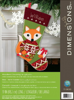 Dimensions felt applique Woodland stocking kit - embroidery