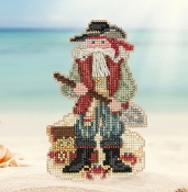 Mill Hill Caribbean Barbados Santa MH20-1733 Christmas Ornament beaded counted cross stitch kit