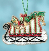 Mill Hill Sleigh Ride Charmed Ornaments Toyland Sleigh MH16-1733 Christmas Ornament counted cross stitch kit