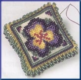 Mill Hill Special Edition, Pansy Petals Beaded counted cross stitch kit