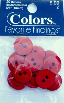 Colors Favorite Findings Cranberry Buttons