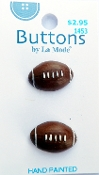 La Mode Football buttons - sewing, crafts
