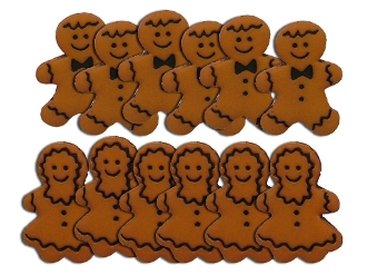 Dress It Up Craft Buttons - Gingerbread People