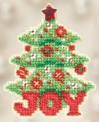 Mill Hill Winter Holiday Joy Tree Christmas Ornament counted cross stitch kit