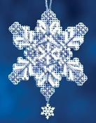 Mill Hill Sapphire Crystals Christmas Ornament counted cross stitch kit