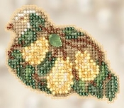 Mill Hill Winter Holiday - Pear Tree Partridge Christmas Ornament Counted Cross Stitch kit