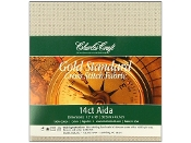 Charles Craft Gold 14ct Aida Platinum Cross Stitch Fabric