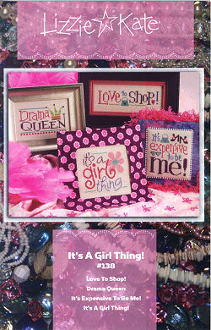Lizzie Kate It's A Girl Thing counted cross stitch chart