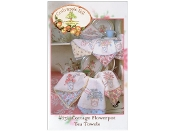 Crabapple Hill Cottage Flowerpot Tea Towels Embroidery patterns