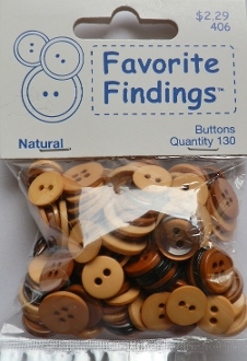 Favorite Findings Natural Flat Back Sewing Buttons
