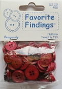 Favorite Findings Burgundy Sewing Buttons