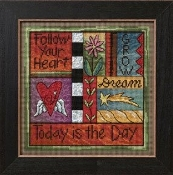 Mill Hill Sticks - Today is the Day - beaded counted cross stitch kit
