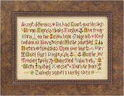 Lizzie Kate ABC Lessons counted cross stitch pattern with threads