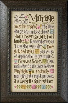 Lizzie Kate - A Good Marriage Counted cross stitch pattern and threads