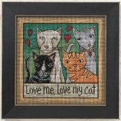 Mill Hill Sticks Love Me Love My Cat beaded counted cross stitch kit