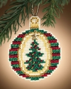 Mill Hill, Golden Tannenbaum - Christmas ornament beaded counted cross stitch kit