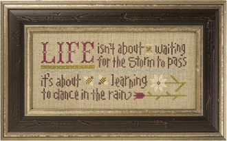 Lizzie Kate Boxer - Dance in the Rain counted cross stitch pattern kit