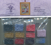 Mirabilia Designs Sleeping Princess MD123E embellishment pack, Mill Hill beads