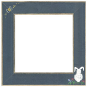 Mill Hill Frame Matte Blue Bumble Bee Bunny for counted cross stitch kits