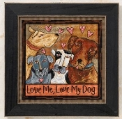Mill Hill Sticks Love Me, Love My Dog Beaded Counted Cross Stitch kit