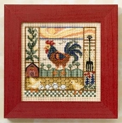 Mill Hill Spring Series - Barnyard Morning beaded counted cross stitch kit