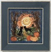 Mill Hill Moonlit Kitties Halloween counted cross stitch kit