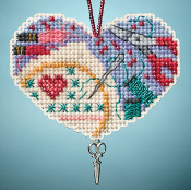 Mill Hill Ornaments Love Stitching beaded counted cross stitch kit
