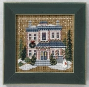 Mill Hill Winter Series - Victorian House beaded counted cross stitch kit