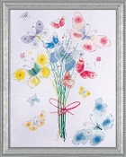 Design Works Crafts, Butterfly Bunch - counted cross stitch picture kit