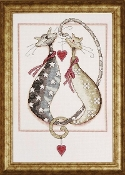 Design Works crafts counted cross stitch picture kit - Purrfect Together