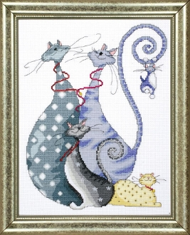 Design Works Crafts Counted Cross Stitch Kit Cat Pack
