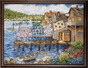Design Works Dockside Quilts counted cross stitch picture kit